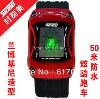 2014 Skmei 0961 LED Digital Cartoon Watch 50m Waterproof Dive Swim Sport Children Watch Jelly Silicone Kids Watch Relogio reloj