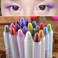New Use 20 Mixed Color Eyeshadow Eye Liner Illuminator Makeup Shimmer Pen Pencil  Free Shipping