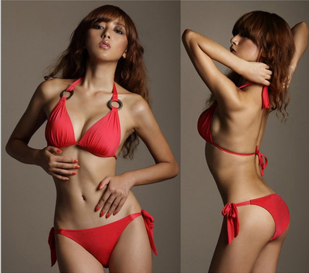 summer beach bikini 2013 summer Europe and America star brand rings sexy swimsuit fashion Bikini chest collect bathing suit(China (Mainland))