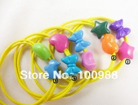 H794-026 10pcs/Lot Free Shipping hot selling candy yellow elastic kids hair bands
