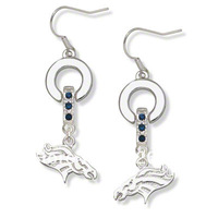 Free shipping Classic denver broncos  MVP crystal earrings 20 pairs a lot