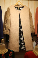 2013 plus size woolen overcoat medium-long thickening fur outerwear women's