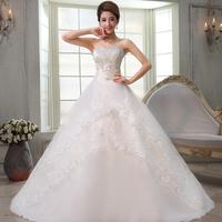 2013 sweet strap tube top wedding dress princess bride wedding dress train