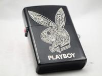 Black metal decorative pattern Childe rabbit man kerosene lighter(No add kerosene)