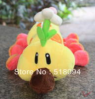 "5pcs/lot Free Shipping Super Mario Bros Caterpillars Plush Toy Soft Stuffed Doll 10""25CM SMPD180"