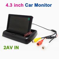 4.3'' TFT LCD Color Dashboard Backup Camera Car Monitor Free Shipping