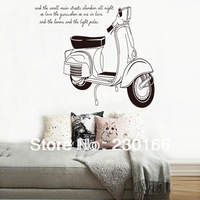 Paul's Motorcycle Creative Wall Stickers for Living Room Vinyl Wall Decal Art DIY Home Decor Stickers Removable 60x90cm E2013051