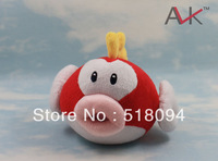 "10pcs/lot Free Shipping Super Mario Bros Fish Plush Toy Soft Stuffed Doll 6""15CM SMPD169"