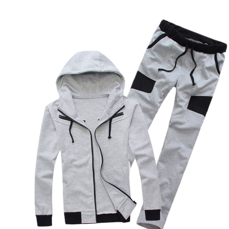 Free shipping new 2014 Plus size Fashion British style casual sport cotton Hoodies basketball jacket Men Brand runway coat+pants(China (Mainland))