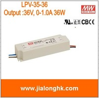 Free Shipping- # LPV-35-36 36W single output switching power supply,suitable for LED lighting, meanwell lpv-35-36 LPV35-36 New