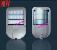 free shipping 90W led street light AC85-265V IP65 Bridgelux 130-140LM/W LED 90*1w led street light 3 years warranty