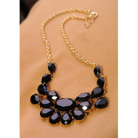 Fashion New 2013 Luxury Gem Women's Short Design Necklace