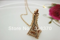 Italina Rigant brand wholesale fashion simple and elegant personality \ Atmospheric Eiffel Tower necklace female