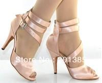 Women Flesh Satin  LATIN Dancing Shoes Ballroom Shoes Salsa Dance Shoes Size 34,35,36,37,38,39,40,41
