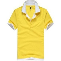 Freeshipping wholesale mens cotton multi-color polo shirt short sleeve plainmens polo shirts