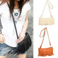 Women Lady lovely Fringe Tassel Shoulder Messenger Bag Leather Handbag Purse new