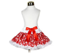 retail,baby girls snowflower tutu skirt,charming print,cute bow,ruffle lace trim,2014 new arrival,kids designer style petticoat