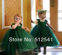 2014 New Arrive Green Flower Girl Dresses Ball Gown Sweetheart  Organza Floor Length Custom made gowns yk8R192
