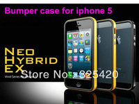 Free shipping New SGP Neo Hybrid EX Vivid Series bumper case for IPhone 5+screen protector,many colors,1pcs / lot, no retail box