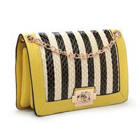 New candy color women chain shoulder bag serpentine messenger bag shoulder bag leather handbags, free shipping