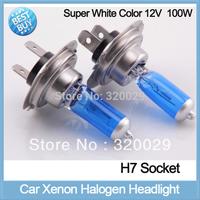2pcs/lot H7 white xenon h7 car headlight bulbs12V 100W car parking light halogen lamp auto HID kit 20016C