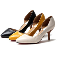 women's shoes pointed toe high-heeled shoes single shoes female thin heels ol white collar work shoes