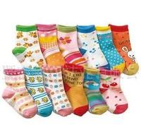 Cotton children socks anti-slip lovely animal fashion kid socks 10pair/lot mix free shipping