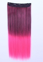 Kevin Hair Straight Hair 110g/Piece 24Inch Fashion Women's Hair Extensions Colorful Hight Clip In Synthetic Hair Extensions
