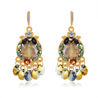 Free Shipping  Accessories crystal elegant earrings anti-allergic fashion earring female 545