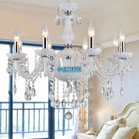 HOT! D740mm H620mm 8 Arms Modern Crystal Chandelier White Lustre with CE UL and 3 Year Warranty (A CCSPBG6801-8) Free Shipping