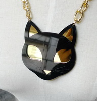 Lovely Cat Animal Acrylic Pendant Necklace