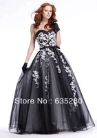 New Elegant  Fashion Applique Tulle Party Formal Prom Dresses  Gown p078