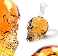 Free Shipping Fancy wine glass big size Doomed Crystal Skull Head Glass skull red wine bottle 1000ml