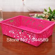 3701A Min order $10 (mix order) free shipping small size candy-colored hollow solid desktop storage baskets debris storage boxs