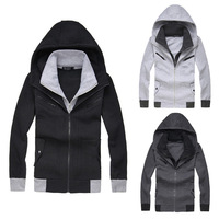 2013 mrpk fashion color block slim with a hood cardigan napping long-sleeve fleeces outerwear 313p45