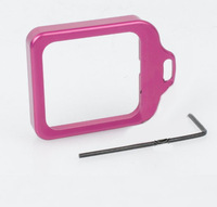 F06475 CNC Aluminum Lanyard Ring Len Mount Set Pink for Gopro Hero3+ Hero 3 Plus + freeshipping