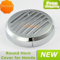 New car Round Horn Cover Chrome color For Honda Shadow VTX VLX ABS free shipping wholesales