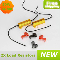 A pair of 50W 6Ohm load resistors dc 12v  for  car bike turn signal led bulb fog light resistance