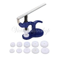 Watch Press Back Case Closer Presser Crystal Glass Fitting 25 - 40mm Watchmaker Repair Tool With 12 Dies Free Shipping
