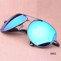 2014 aviator glasses 100% UV400 polarized sunglasses men metal frame gold/green/blue lens outdoors sunglasses free shipping