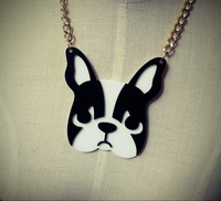 Fashion Animal Dog  Acrylic Pendant Necklace