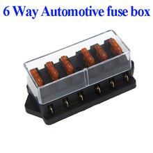 Universal Car Truck Vehicle 6 Way Circuit Automotive Middle-sized Blade Fuse Box Block Holder Wholesale(China (Mainland))