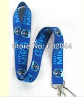 New HATSUNE MIKU 10pcs cell Phone Strap NECK Hook Lanyard Charm Key Chain Free shipping