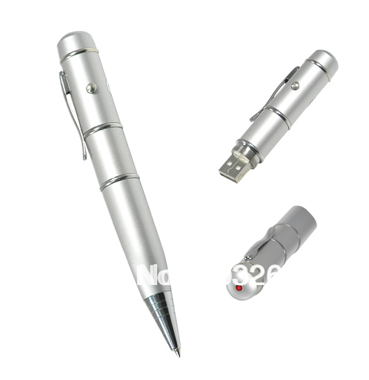 Ballpoint PL Promotional Pen Metal Custom Usb Flash Disk Drive / Pendrive Laser Engrave 1GB 2GB 4GB 8GB 16GB(China (Mainland))