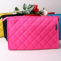 Plaid cosmetic bag Women day clutch cell phone pocket storage thickening waterproof wash bag