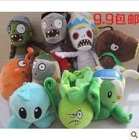 Promotion! Plants Vs Zombies 2:Its About Time plants vs zombies 2 plush toy stuffed plants doll 9pcs/lot