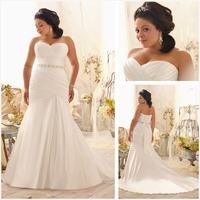 2014 Newest Fashion White Plus Size Wedding Dresses Unique Backless Sheath Wedding Dresses Gown