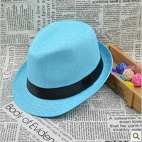 Fashion sunbonnet fashion female summer hat male strawhat jazz hat fedoras lovers beach hat