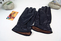 Men and women leather glove Winter Thermal Faux Thickening Cold-proof Gloves Plus Velvet
