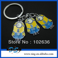 Free shipping!Wholesale lots The New Minion Stuart keychain Despicable Me of 3pcs Keyring